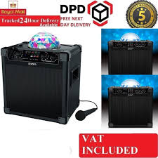 ion portable speaker system with party lights ion party rocker plus bluetooth 50w portable speaker system with