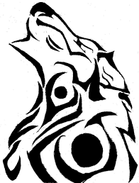 tribal wolf by hen the eggchick on deviantart