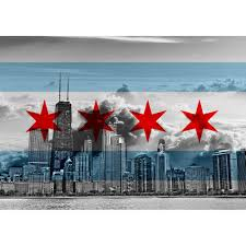 Chicagos Flag Chicago Flag Cloudy Skyline U2013 Zapwalls