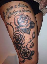collection of 25 thigh tattoos of flowers