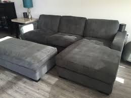 incredible gray couch sectional chaise lounge w storage ottoman
