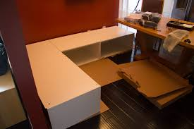 building kitchen cabinets diy kitchen banquette bench using ikea cabinets ikea hacks
