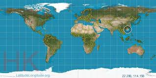 latitude map hong kong latitude longitude