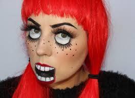 halloween scary doll makeup creepy doll halloween makeup youtube