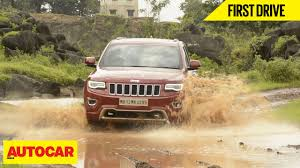 first jeep grand cherokee jeep grand cherokee first drive autocar india youtube