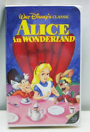 alice in wonderland vhs disney classic movie video clamshell