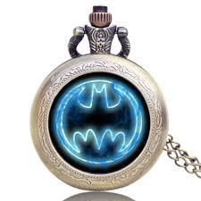 sale batman movie theme extension brass pocket watch antique