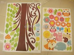 baby nursery wall stickers personalised childrens star name giant nursery wall decal scroll tree owl jungle animal sticker kids room baby girls dorm decor