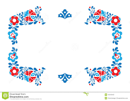 folklore ornament stock vector image of botany blue 45549401