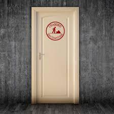 porte chambre sticker porte chambre en chantier stickers citations français