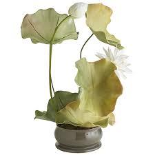 faux lotus u0026 lily pad arrangement pier 1 imports