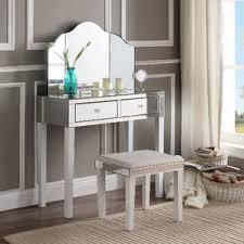 Turquoise Vanity Table Corner Makeup Vanity Table Wayfair