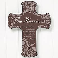 personalized wall cross family blessings