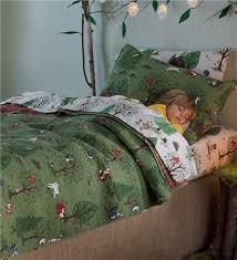 Forest Bedding Sets Woodland Friends Quilt Set Magic Cabin