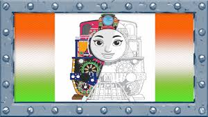 how to coloring and drawing ashima thomas and friends