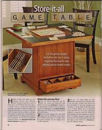 BASEMENT Game Table And Game Organization At Bottom Of Stairs - Board game table design