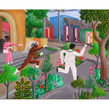 Haitian And Jamaican Flag A M Maurice Haitian Art Paintings Online Gallery