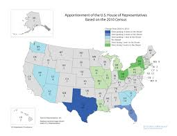 map of us states based on population congressional apportionment 2010 apportionment results