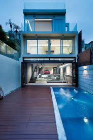 home design painted cinder block house building designers garage