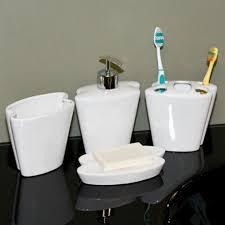 butterfly porcelain bath accessories 4 piece set white bathroom