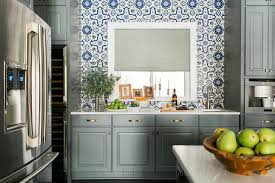Blue Kitchen Tiles Blue And Gray Mosaic Kitchen Tiles Contemporary Home Exterior