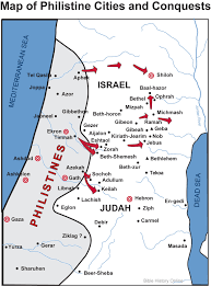 map of philistine cities and expansion bible history online