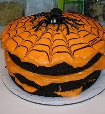 halloween cake chocolate cake orange icing swirl decoration