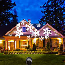 Christmas Outdoor Light Projector by Moving Snowflake Led Outdoor Landscape Laser Projector Lamp Garden