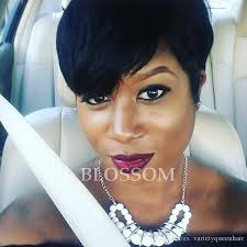 reat african american pixie black short pixie cut wigs for black women chic black human short
