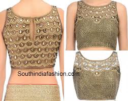net blouse pattern 2015 stone work net blouse south india fashion