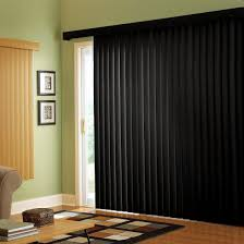 black vertical blinds white on the reverse side for the patio