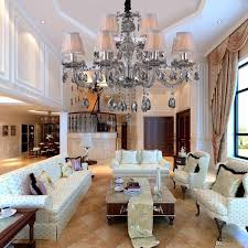 discount gray crystal chandelier e14 led candle blubs with 12