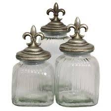 fleur de lis canisters for the kitchen casa cortes canisters and jars ebay