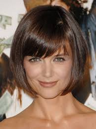 angled hairstyles for medium hair 2013 cute short bob hairstyle from katie holmes hairstyles weekly