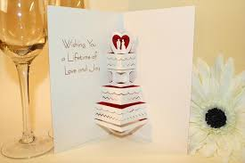 wishing cards for wedding wedding day pop up greeting cards