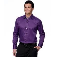 domani blue luxe men u0027s purple floral trim button down dress shirt