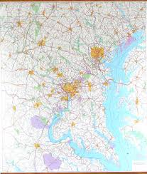 Map Dc Washington Dc 50 Mile Radius Map