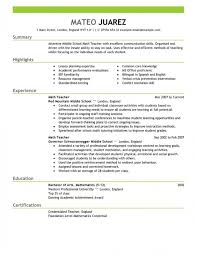experienced teacher resume examples how to write a teaching resume samples of resumes