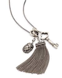 antique silver key necklace images Zosia long pendant necklace in silver kendra scott jpg