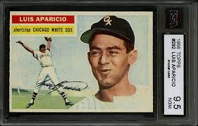 ebay ksa 1956 topps bb 292 luis aparicio rc hof chicago white sox ksa 9 5