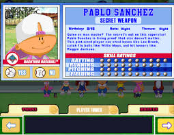 Backyard Baseball 10 Backyard Baseball Draft Timbo Sliced