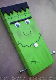 halloween wood blocks meet mr block head franky craft o maniac
