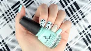 tutorial mint green leopard nails perfect for spring