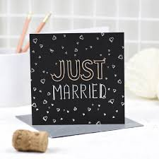 just married cards just married card by fay s studio notonthehighstreet
