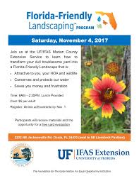 florida friendly landscaping program tickets sat nov 4 2017 at florida friendly landscaping ffl means using low maintenance plants and environmentally sustainable practices learn how you can have a beautiful