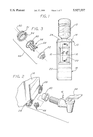 patent us5927557 reservoir and faucet assembly for a water