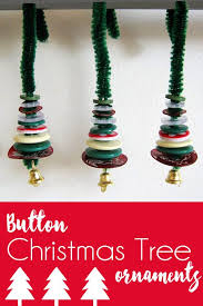 handmade christmas decorations miniature button tree ornaments