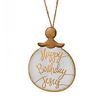 happy birthday jesus ornament white gold lifeway christian ornament