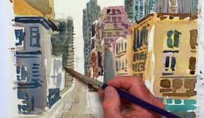 city landscape painting a 15 step tutorial filled with city