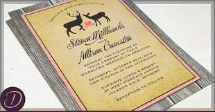 deer wedding invitations deer wedding invitations specially